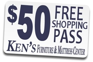 Ken's Furniture and Mattress Center Shopping Pass