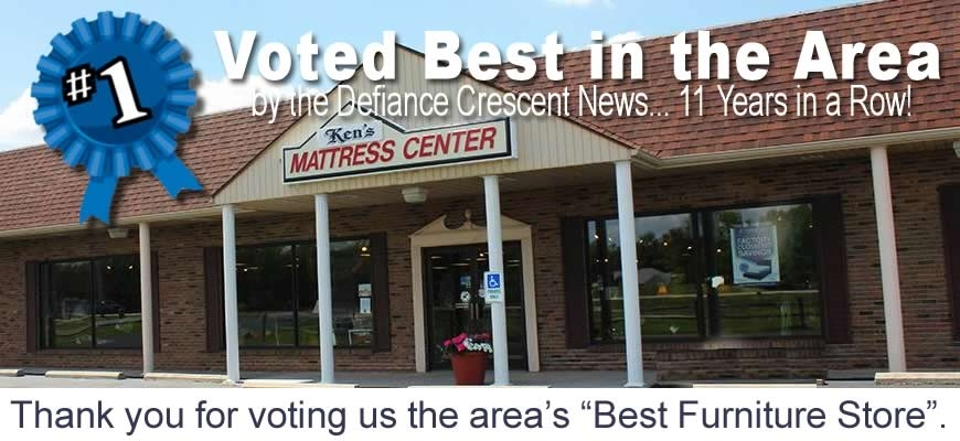 Voted the area's Best Furniture Store by the Defiance Crescent News